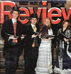 Hartley Voices Christmas Carol Singers Mail on Sunday Review 2004