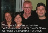 The Chris Evans Show Christmas Singers for Hire