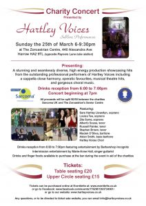 A Spectacular Charity Concert in aid of Sarcoma UK and the Zoroastrians Senior Centre