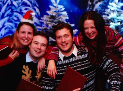 Festive caroling quartet hire uk