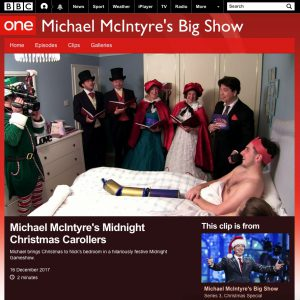 Hilarious feature on Michael McIntyre's Midnight Gameshow Christmas Special 2017!