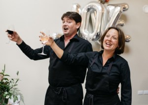 Soprano & Tenor Singing Waiters hire UK