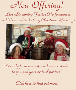 Virtual Christmas Carollers, hire live streaming performers