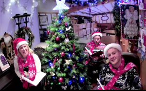 Virtual Live Stream Christmas Carollers hire