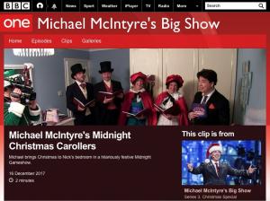 Carol Singers hire Michael McIntyre Big Show
